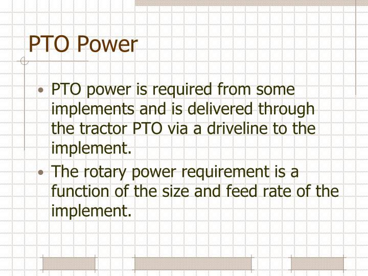 PTO Power