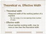 theoretical vs effective width