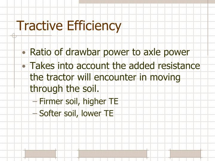 Tractive Efficiency