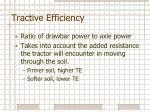 tractive efficiency