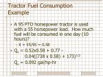 tractor fuel consumption example
