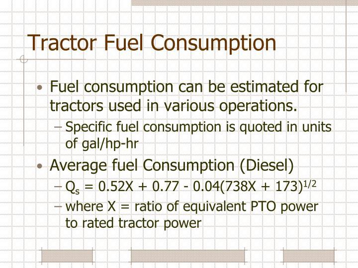 Tractor Fuel Consumption