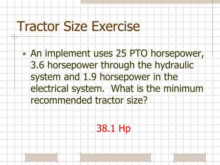 Tractor Size Exercise