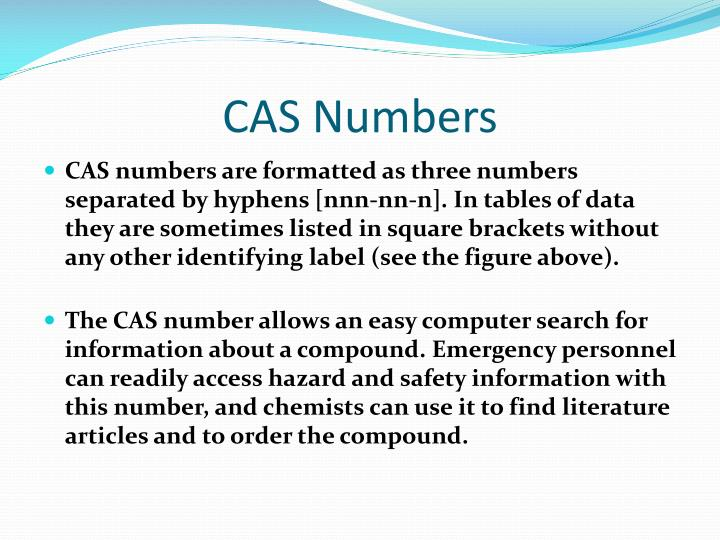 CAS Numbers
