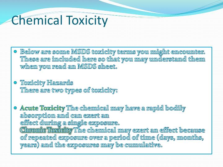 Chemical Toxicity