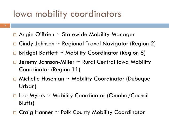 Iowa mobility coordinators