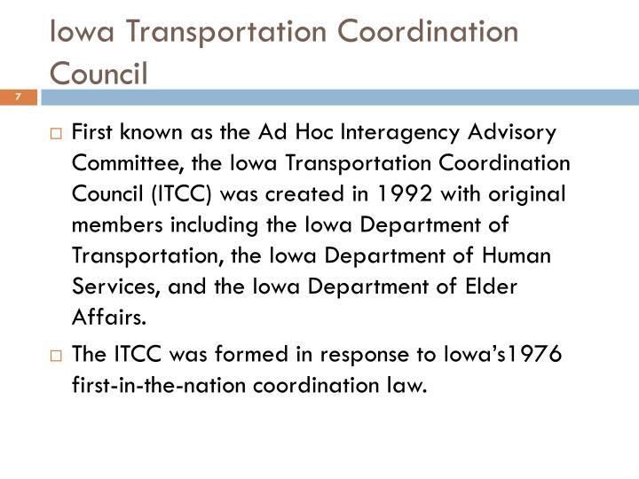Iowa Transportation Coordination Council