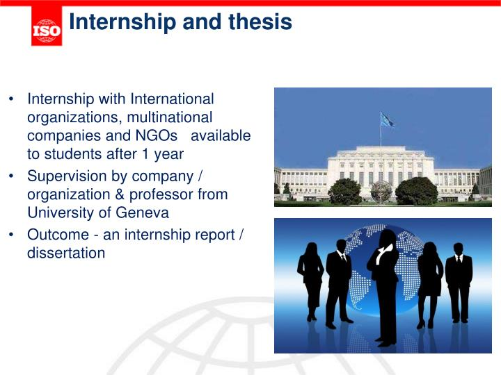 Internship and thesis