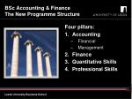 bsc accounting finance the new programme structure