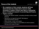 focus of the module1