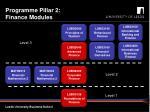 programme pillar 2 finance modules