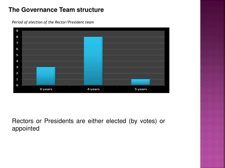 The Governance Team structure