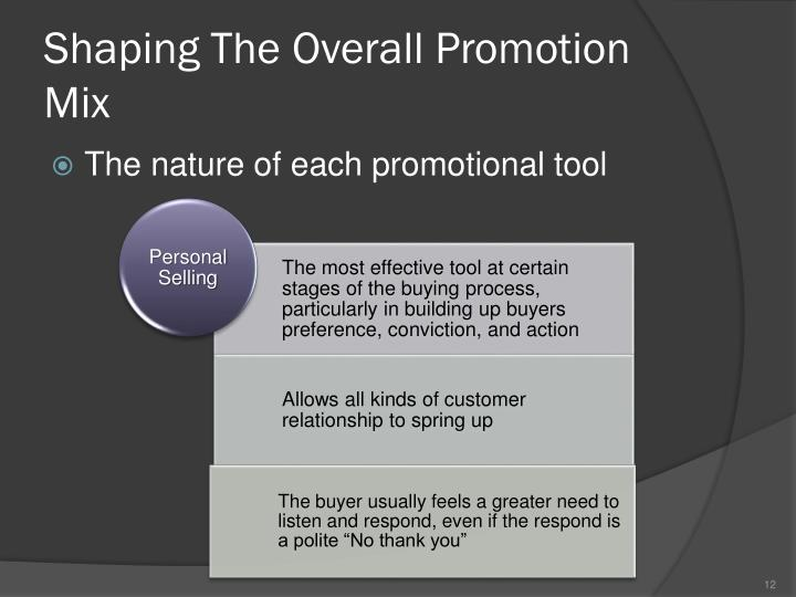 Shaping The Overall Promotion Mix