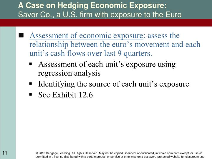 A Case on Hedging Economic Exposure: