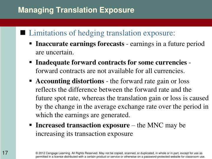 Managing Translation Exposure