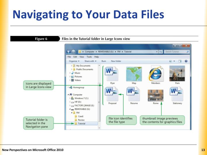Navigating to Your Data Files
