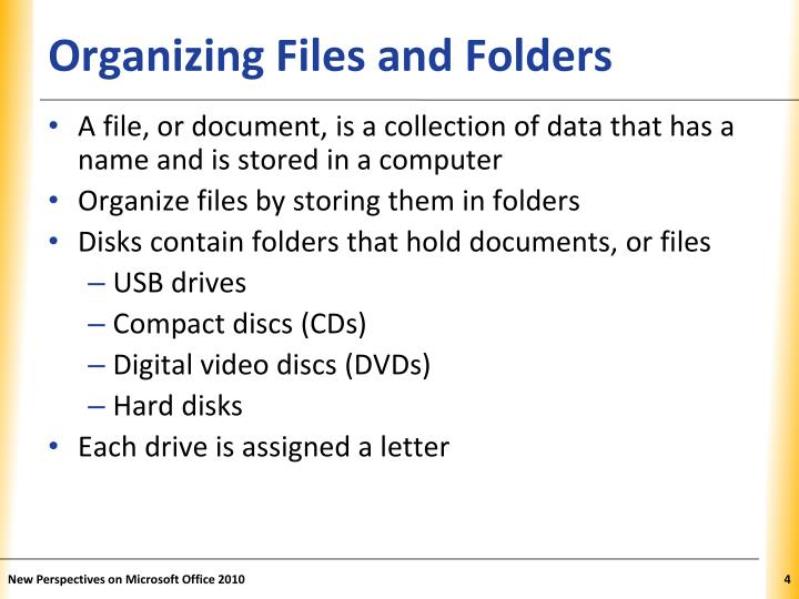 Organizing Files and Folders