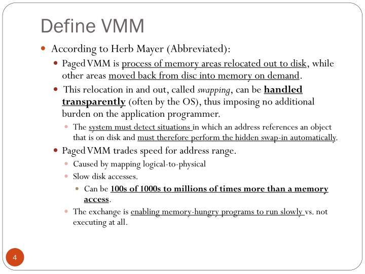 Define VMM