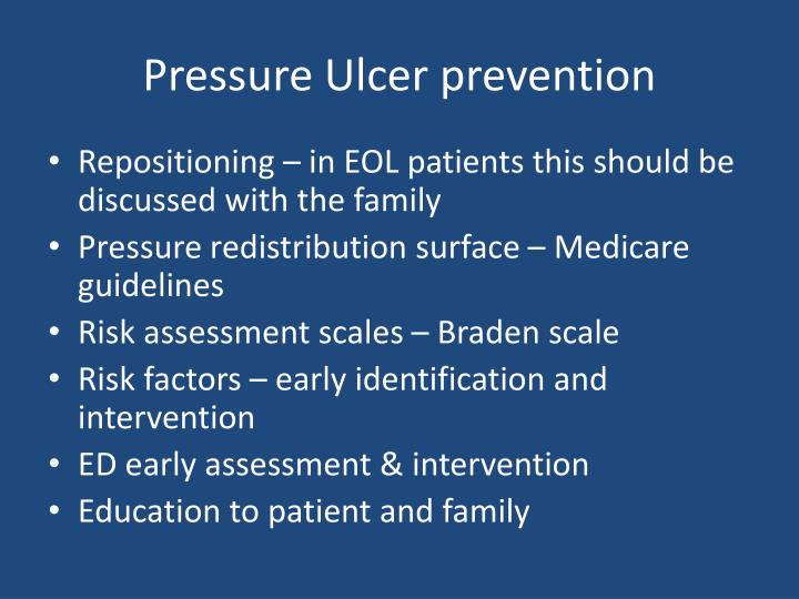 pressure ulcer prevention Evidence-based pressure ulcer prevention, second edition: a study guide for  nurses: 9781601461711: medicine & health science books @ amazoncom.
