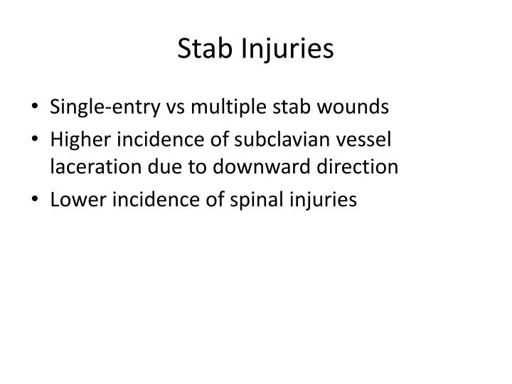 Stab Injuries