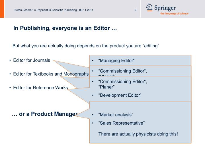 In Publishing, everyone is an Editor …