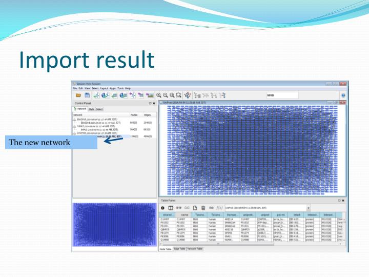 Import result