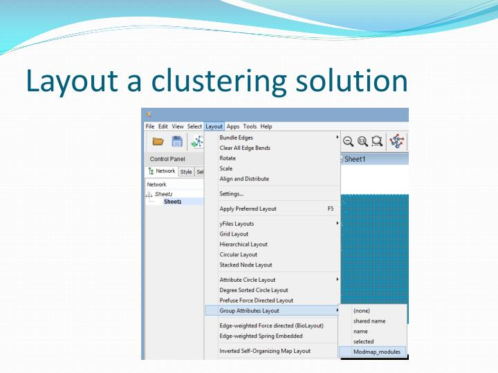 Layout a clustering solution