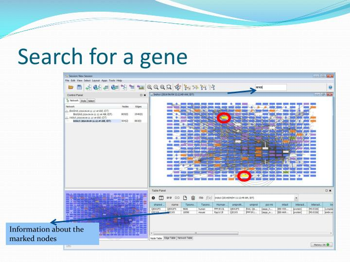 Search for a gene