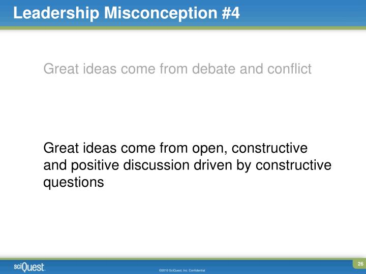 Leadership Misconception #4
