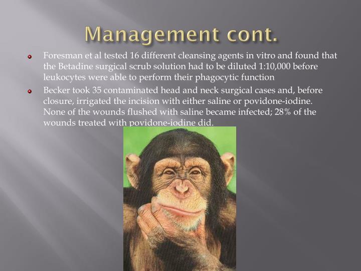 Management cont.