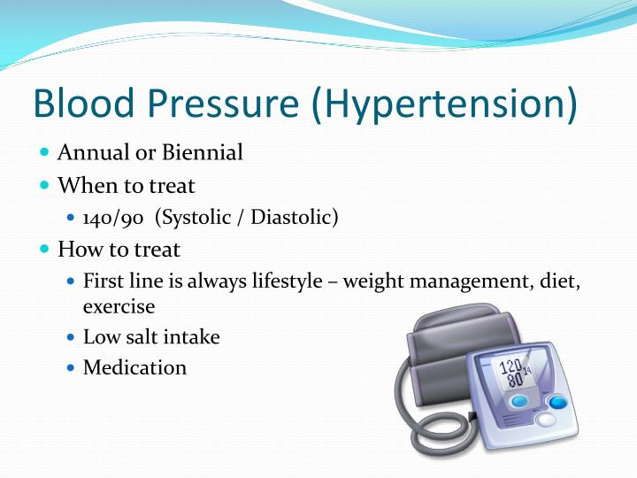 Blood Pressure (Hypertension)