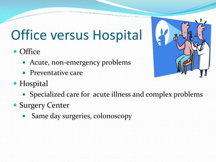 Office versus Hospital