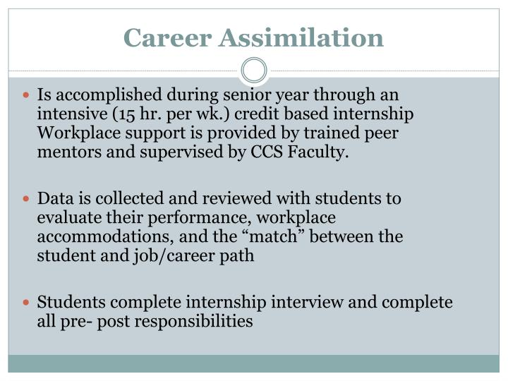 Career Assimilation