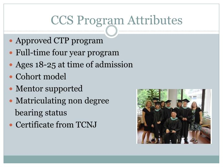 Ccs program attributes