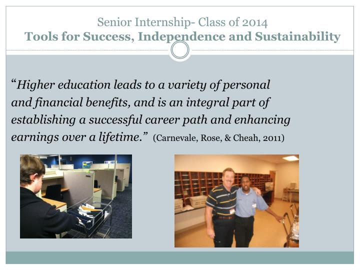 Senior Internship- Class of