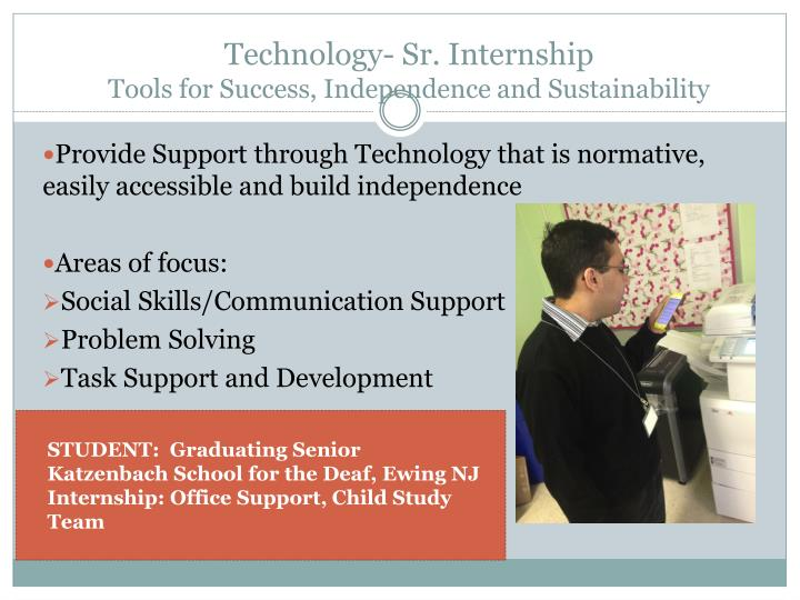 Technology- Sr. Internship