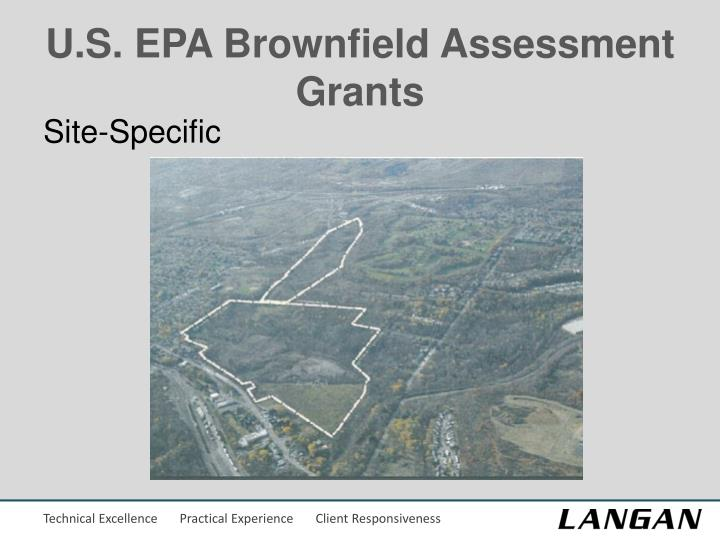 U.S. EPA Brownfield Assessment Grants