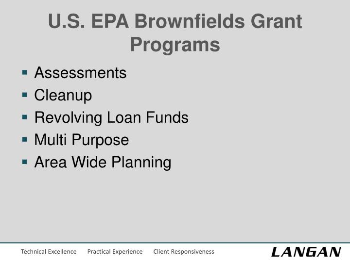 U.S. EPA Brownfields Grant Programs