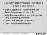 u s epa brownfields revolving loan fund rlf