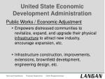 united state economic development administration