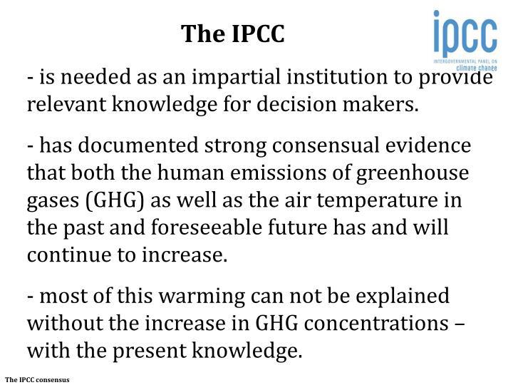 The IPCC
