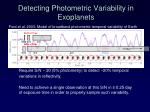 detecting photometric variability in exoplanets
