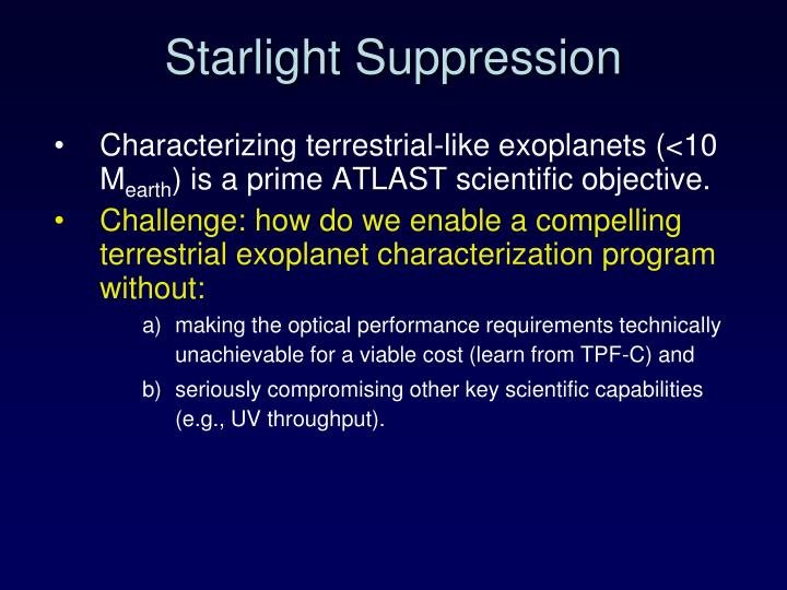 Starlight Suppression