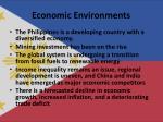 economic environments