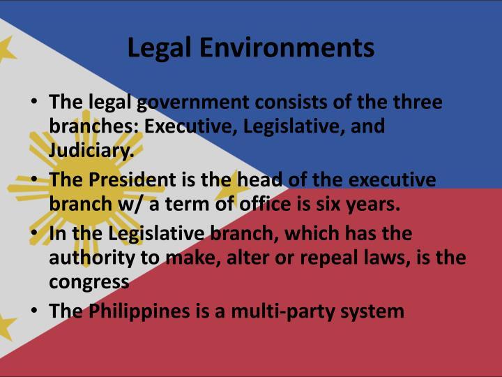 Legal Environments