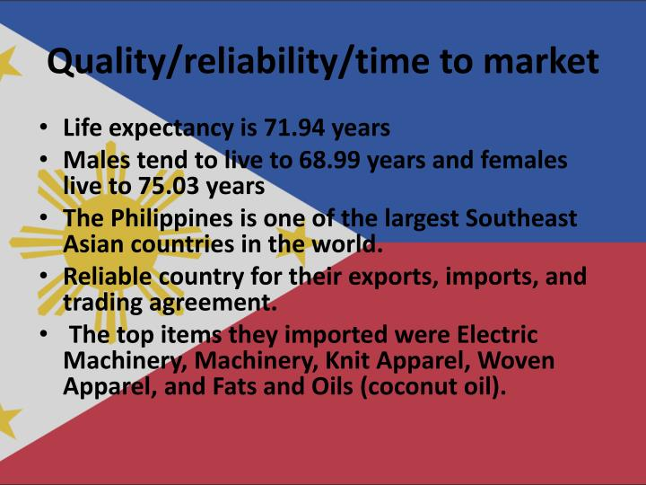 Quality/reliability/time to market