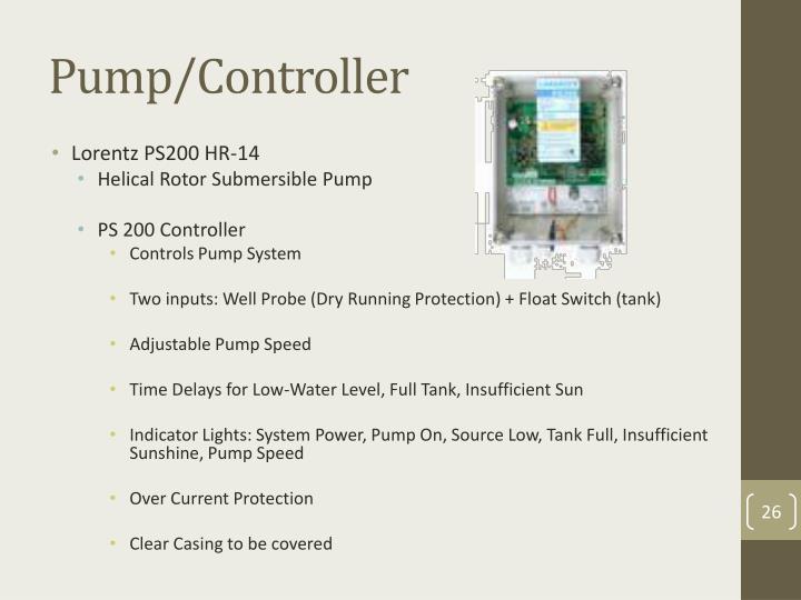 Pump/Controller