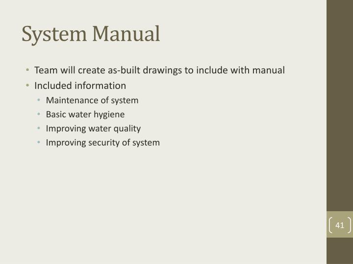 System Manual