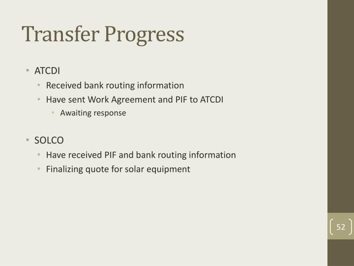 Transfer Progress