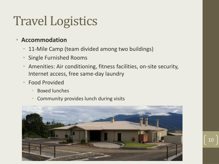 Travel Logistics